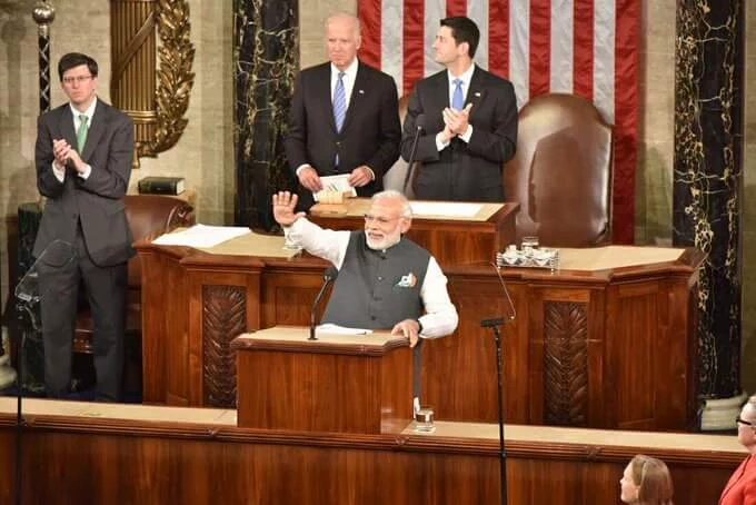 Modi at US Congress